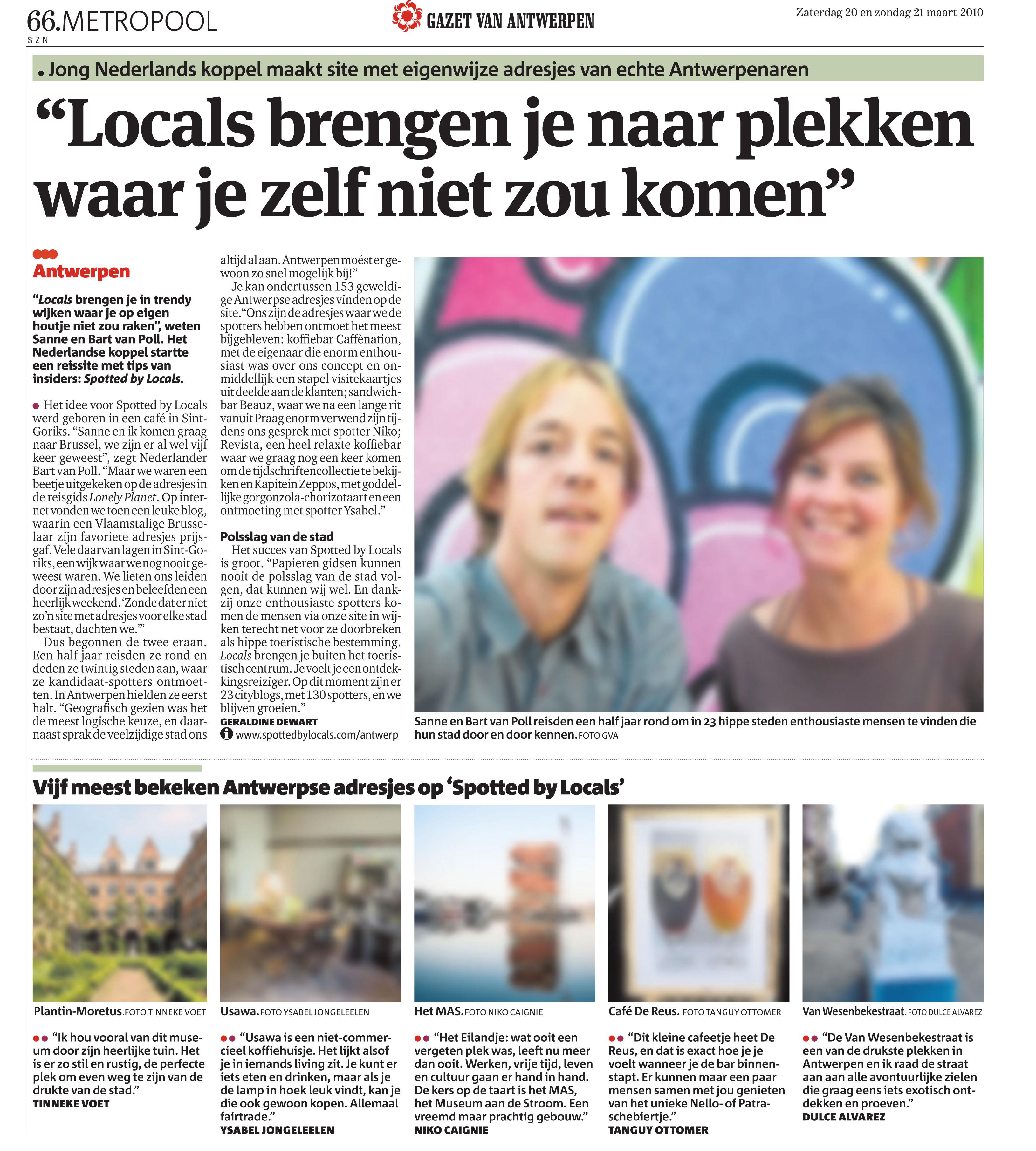 In Gazet Antwerp Spotted By Locals Blog